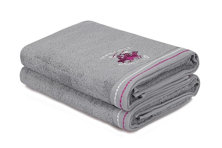 Kylpypyyhe Romilla 2 kpl - Harmaa - Sisustustuotteet - Kodintekstiilit - Kylpyhuoneen tekstiilit