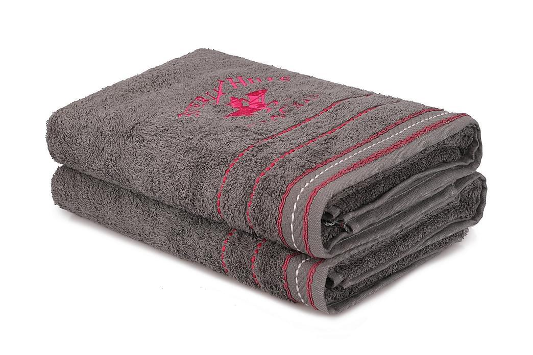 Kylpypyyhe Romilla 2 kpl - Tummanharmaa - Sisustustuotteet - Kodintekstiilit - Kylpyhuoneen tekstiilit