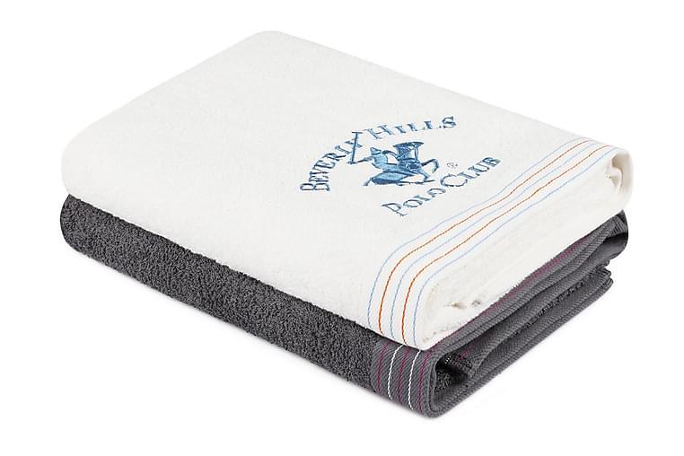 Kylpypyyhe Romilla 2 kpl - Tummanharmaa/valkoinen - Sisustustuotteet - Kodintekstiilit - Kylpyhuoneen tekstiilit