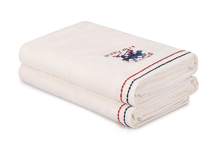 Kylpypyyhe Romilla 2 kpl - Valkoinen - Sisustustuotteet - Kodintekstiilit - Kylpyhuoneen tekstiilit