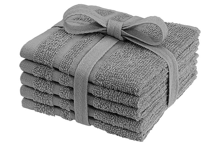 Pesulaput Basic 5-pak Harmaa - Franzén - Sisustustuotteet - Kodintekstiilit - Kylpyhuoneen tekstiilit