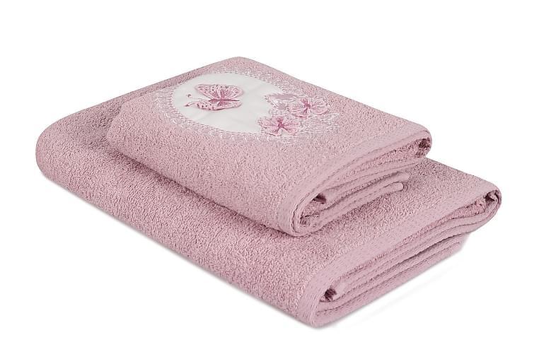 Pyyhe Hedon 2 kpl - Violetti - Sisustustuotteet - Kodintekstiilit - Kylpyhuoneen tekstiilit