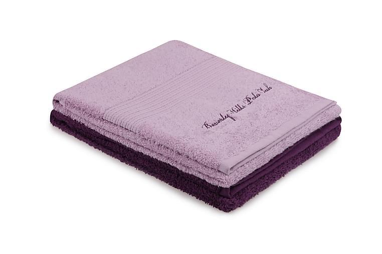 Pyyhe Romilla 2 kpl - Violetti - Sisustustuotteet - Kodintekstiilit - Kylpyhuoneen tekstiilit