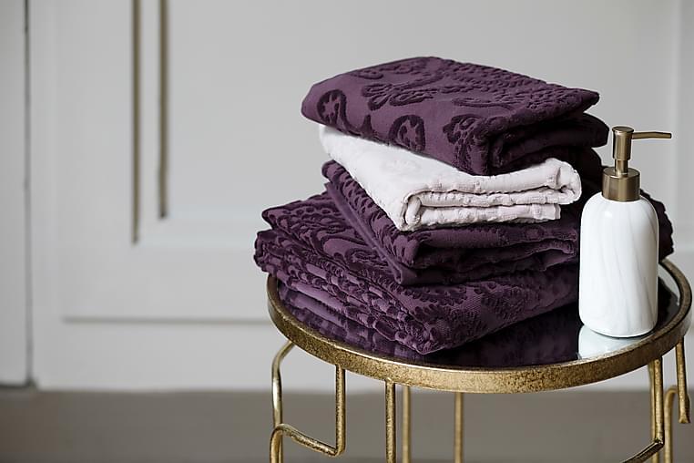 Pyyheliina Milja 100x150 cm Luumu - Lennol - Sisustustuotteet - Kodintekstiilit - Kylpyhuoneen tekstiilit