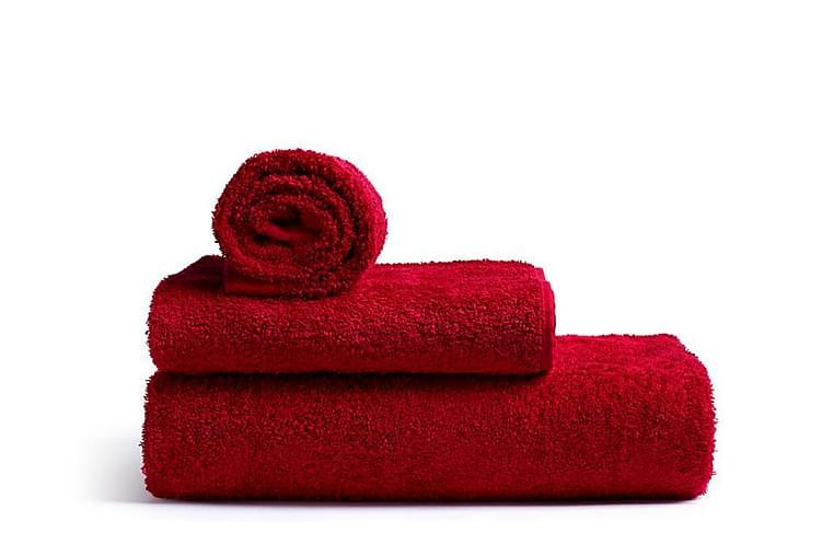 Rode Bath Mafalda Froteepyyhe Keskikoko Punainen - Rode Bath - Sisustustuotteet - Kodintekstiilit - Kylpyhuoneen tekstiilit