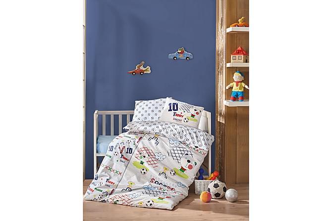Pussilakanasetti Cotton Box Baby 4-os Ranforce - Valkoinen/Sininen/Pun/Vihreä - Sisustustuotteet - Kodintekstiilit - Lasten tekstiilit