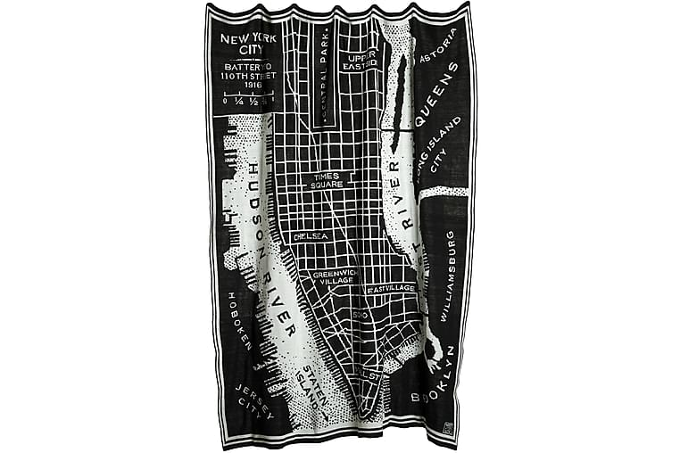 Peitto Manhattan 130x170 cm Musta - Mogihome - Sisustustuotteet - Kodintekstiilit - Torkkupeitot