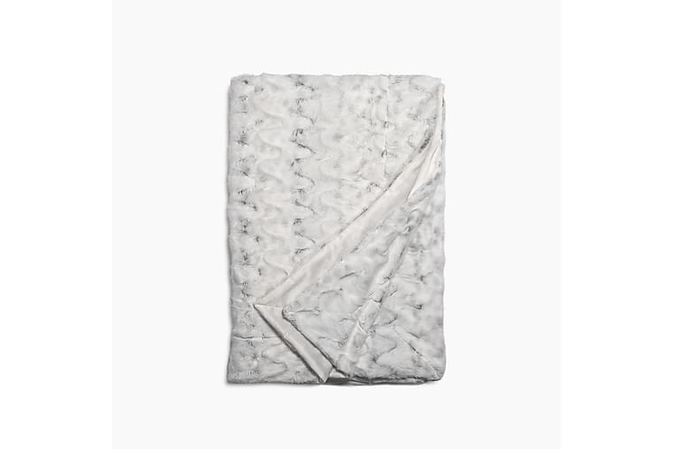 Torkkupeite Cecilia 130x170 cm Valko/Harmaa - Lennol - Sisustustuotteet - Kodintekstiilit - Torkkupeitot