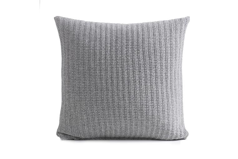 Tyynynpäällinen Elin 48x48 Vaaleanharmaa - Sisustustuotteet - Kodintekstiilit - Tyynynpäälliset