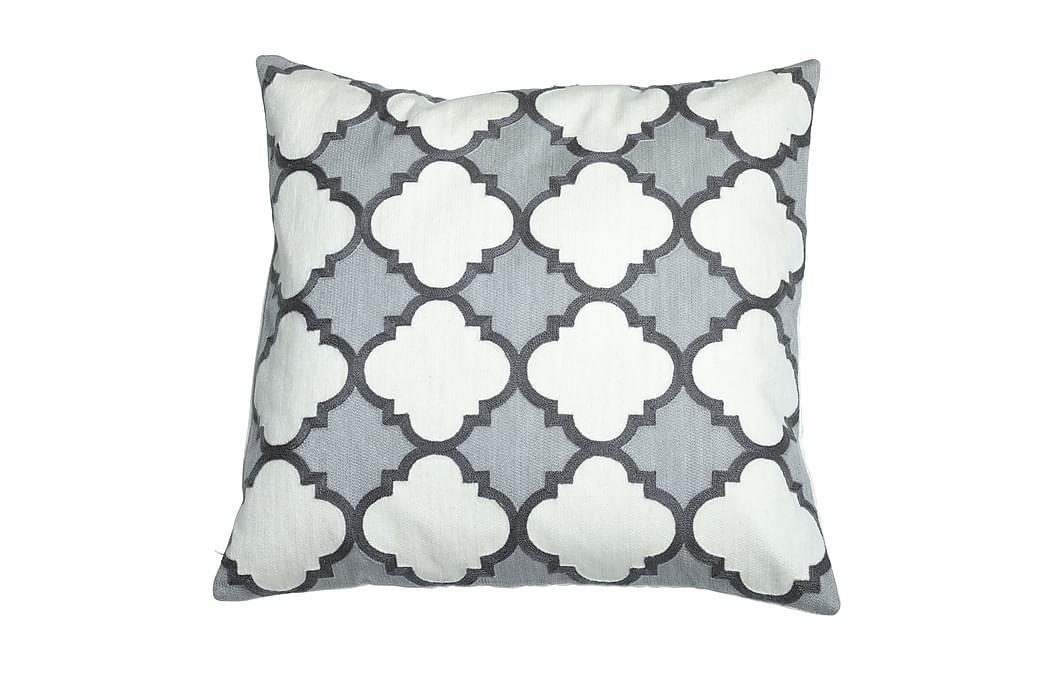 Tyynynpäällinen Emira 50x50 cm Harmaa - Mogihome - Sisustustuotteet - Kodintekstiilit - Tyynynpäälliset