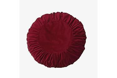 Tyynynpäällinen Tilde 50 cm Pyöreä Sametti Punainen