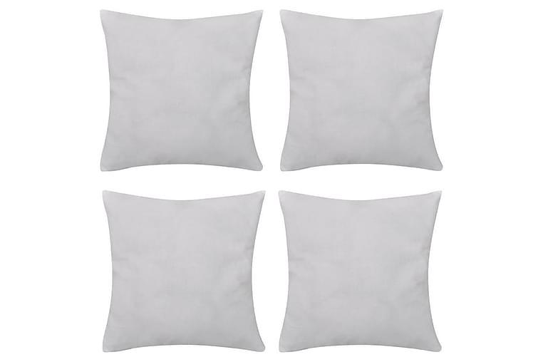 Valkoinen tyynynpäällinen 4 kpl Puuvilla 80 x 80 cm - Valkoinen - Sisustustuotteet - Kodintekstiilit - Tyynynpäälliset