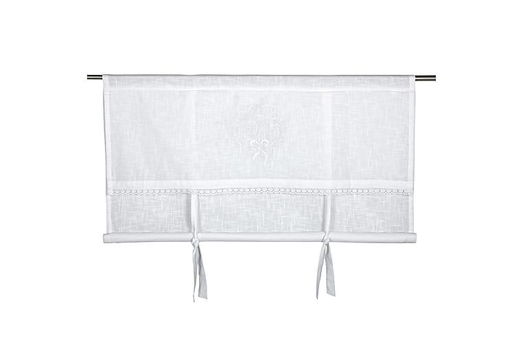 Laskosverho Emmy 180x100 cm Valkoinen - Fondaco - Sisustustuotteet - Kodintekstiilit - Verhot