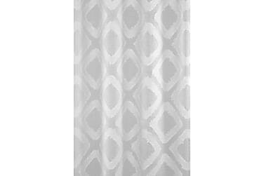 NELLA siksakverho 140x260 cm valkoinen, purjerenkain