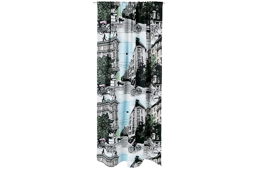 Pimentävä Sivuverho Bulevardi 140x250 cm Sininen - Vallila - Sisustustuotteet - Kodintekstiilit - Verhot