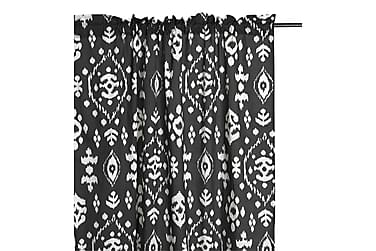 Pitkä verho kujalla Omar 110x240 cm Musta