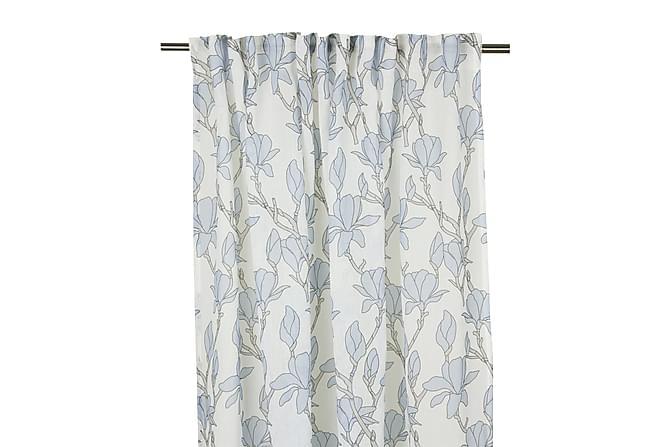 Pitkä verho Magnolia Monitoiminauha 2-pak 240 cm Sininen - Fondaco - Sisustustuotteet - Kodintekstiilit - Verhot