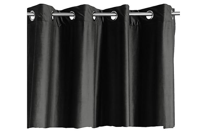 Rengaskappa Chevonne Sametti 45x250 cm - Musta - Sisustustuotteet - Kodintekstiilit - Verhot