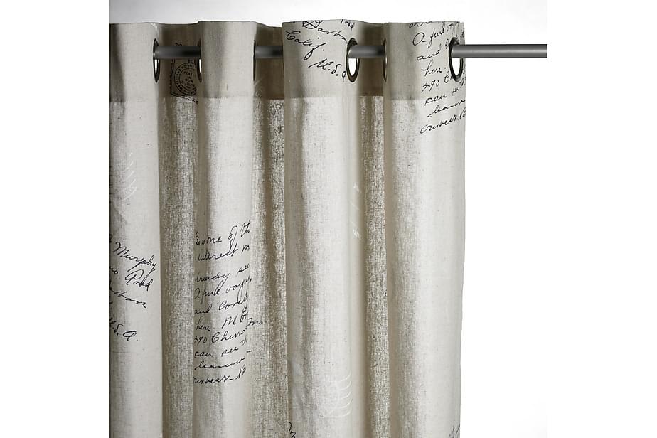 Rengasverho Stamps 140x240 cm Luonnonvalkoinen