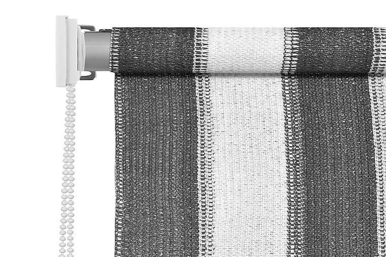 Rullaverho ulkotiloihin 400x140cm Antrasiitti ja valkoinen - Antrasiitti - Sisustustuotteet - Kodintekstiilit - Verhot