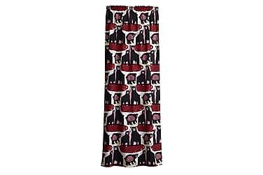 Sivuverho Otso, 140x250cm, punainen/roosa