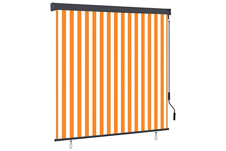 Ulkorullaverho 170x250 cm valkoinen ja oranssi - Oranssi - Sisustustuotteet - Kodintekstiilit - Verhot