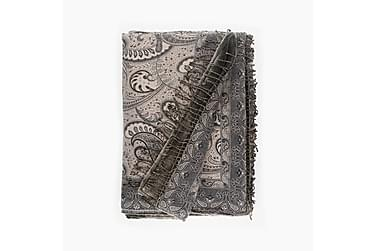 AMANDA torkkupeite 130x170 cm harm, beige-musta Naava-vuori