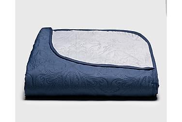 JUULIA kääntöpeite 160x260 cm sininen-harmaa