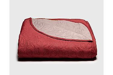 JUULIA kääntöpeite 250x260 cm punainen-beige