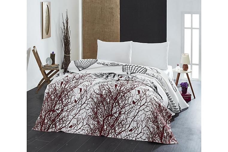 Päiväpeite Eponj Home Yhden 160x235 cm - Valkoinen/Musta/Ruskea - Sisustustuotteet - Kodintekstiilit - Vuodevaatteet
