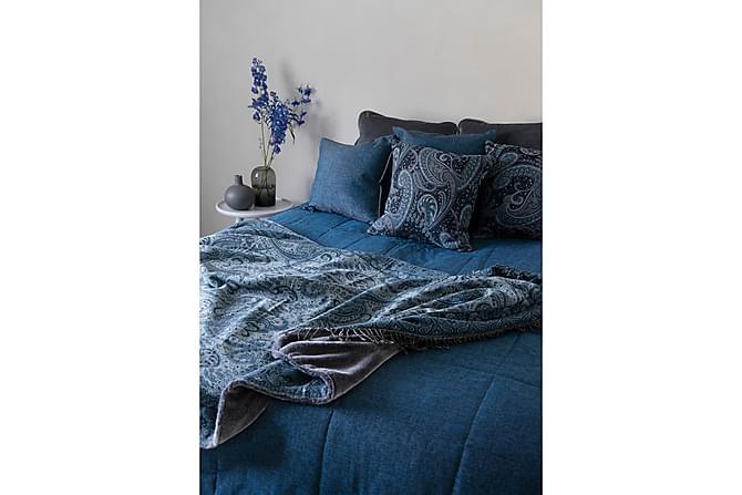LASSI päiväpeite 160x260 cm sininen meleerattu - Lennol - Sisustustuotteet - Kodintekstiilit - Vuodevaatteet