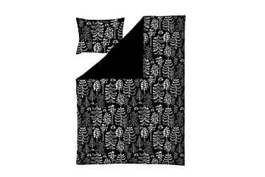 Pussilakanasetti Sadussa 150x210 cm Musta/Harmaa