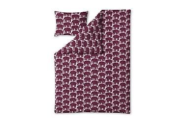 Pussilakanasetti Elefantti, 150x210+50x60cm, vpun/roosa