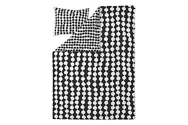 Pussilakanasetti Pampula 150x210 cm Musta/valkoinen