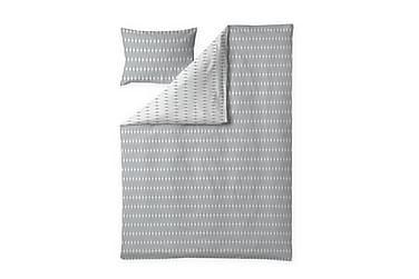 Pussilakanasetti Toivo 150x210 cm Valkoinen/Harmaa