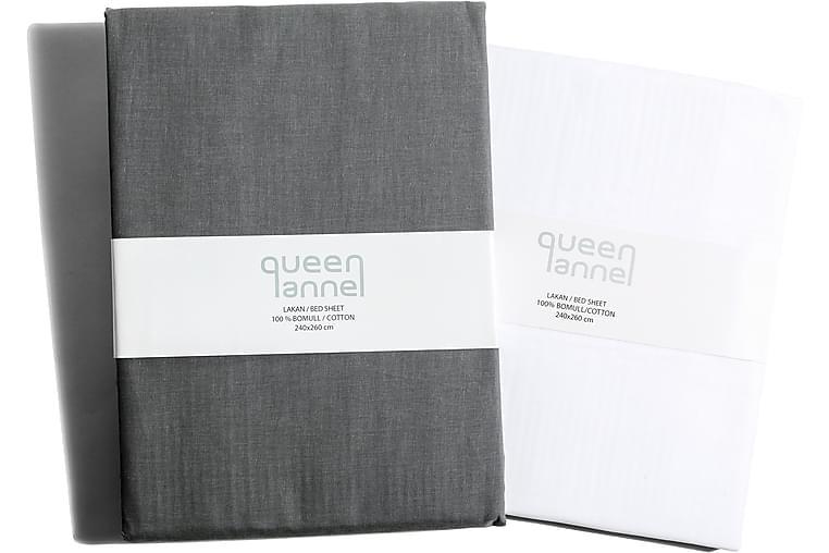 Queen Anne Aluslakana 260x240 cm - Valkoinen - Sisustustuotteet - Kodintekstiilit - Vuodevaatteet