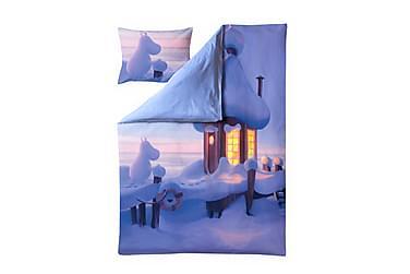 Satiinipussilakanasetti Muumilaakson talvi, 150x210+50x60cm