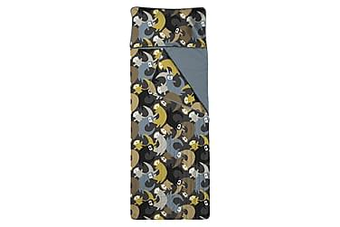Unipussi Lutralutra, 90x250cm, tummanharmaa/keltainen