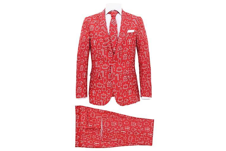 2-osainen miesten joulupuku solmiolla koko 46 lahjat - Punainen - Sisustustuotteet - Sisustusesineet - Joulukoristeet