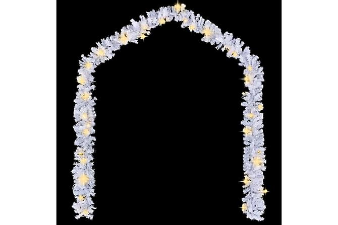 Jouluköynnös LED-valoilla 20 m valkoinen - Valkoinen - Sisustustuotteet - Koriste-esineet - Joulukoristeet