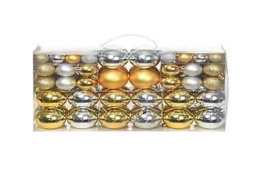 100 kpl joulukuusen pallosarja 6 cm hopea/kulta