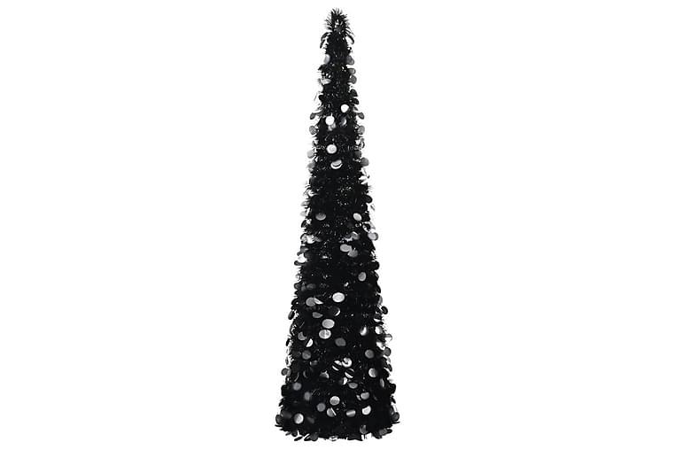 Pop-up tekojoulukuusi musta 180 cm PET - Sisustustuotteet - Sisustusesineet - Joulukoristeet