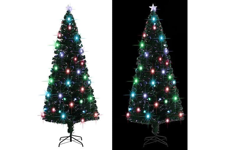 Tekojoulukuusi jalustalla LED 210 cm 280 oksaa - Vihreä - Sisustustuotteet - Sisustusesineet - Joulukoristeet