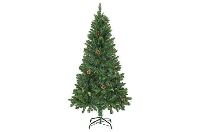Tekojoulukuusi kävyillä vihreä 150 cm - Vihreä - Sisustustuotteet - Koriste-esineet - Joulukoristeet