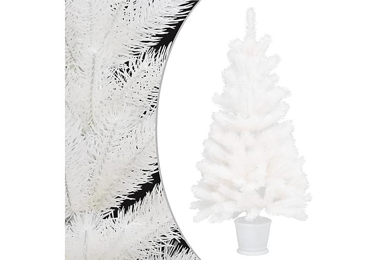 Tekojoulukuusi ruukulla valkoinen 65 cm PE - Sisustustuotteet - Sisustusesineet - Joulukoristeet