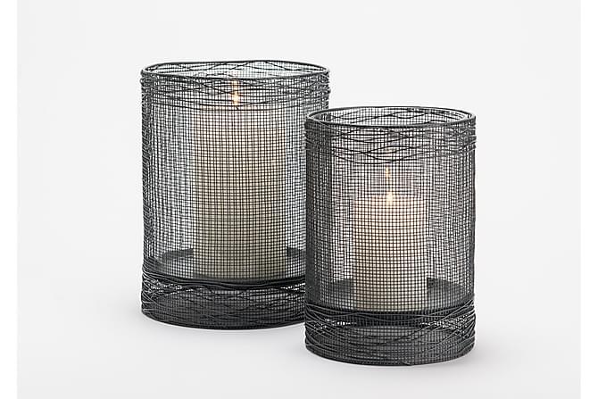 Kynttilälyhty Dayley 20x25 cm - Musta - Sisustustuotteet - Koriste-esineet - Kynttilänjalat & lyhdyt