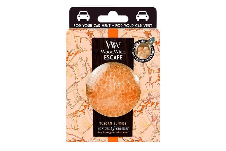 Tuoksukynttilä Car Vent Clip Tuscan Sunrise Oranssi - WoodWick - Sisustustuotteet - Sisustusesineet - Kynttilät ja huonetuoksut