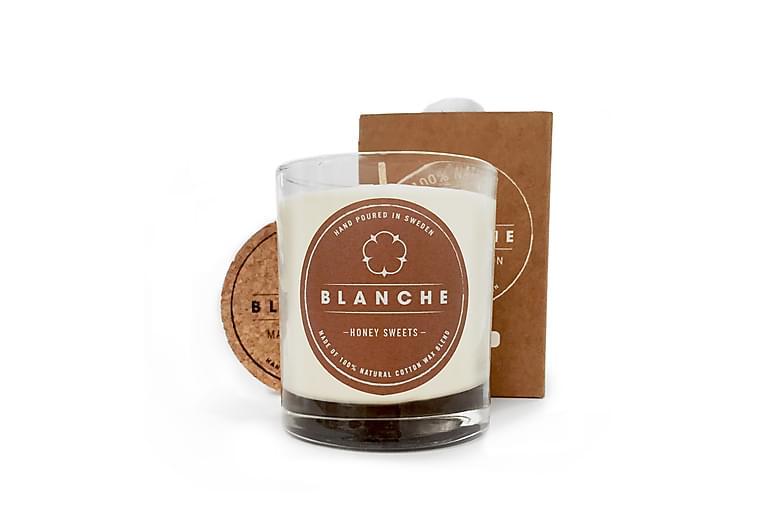 Tuoksukynttilä Medium Honey Sweets Valkoinen - Blanche - Sisustustuotteet - Sisustusesineet - Kynttilät ja huonetuoksut