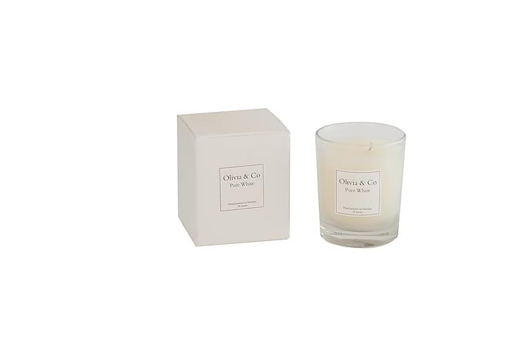 Tuoksukynttilä Pure White - Olivia & Co - Sisustustuotteet - Sisustusesineet - Kynttilät ja huonetuoksut