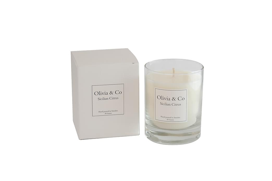 Tuoksukynttilä Sicilian Citrus - Olivia & Co - Sisustustuotteet - Sisustusesineet - Kynttilät ja huonetuoksut